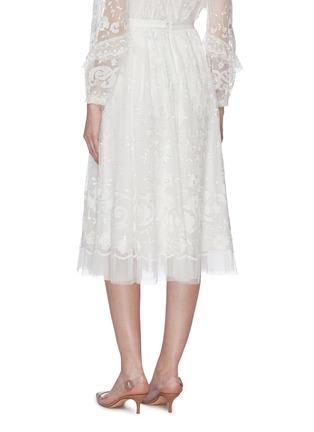 背面 - 点击放大 - Needle & Thread - Eleanor花卉刺绣波点网纱半裙