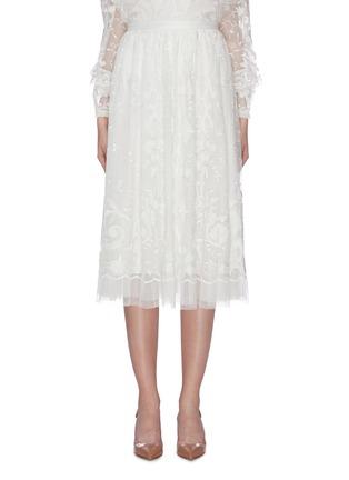 首图 - 点击放大 - Needle & Thread - Eleanor花卉刺绣波点网纱半裙