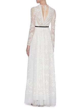 背面 - 点击放大 - Needle & Thread - Eleanor花卉刺绣波点网纱礼服裙