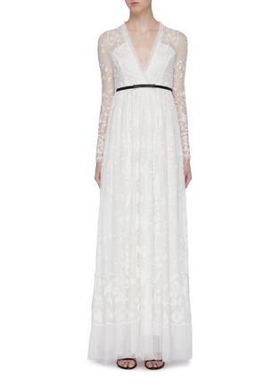 首图 - 点击放大 - Needle & Thread - Eleanor花卉刺绣波点网纱礼服裙