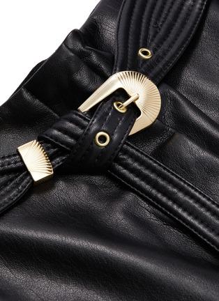 - NANUSHKA - Kisa绗缝腰带皮革高腰阔腿裤