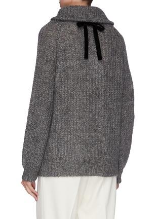 背面 - 点击放大 - Short Sentence - 抽绳高领混马海毛及绵羊毛针织衫