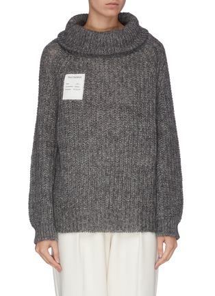 首图 - 点击放大 - SHORT SENTENCE - 抽绳高领混马海毛及绵羊毛针织衫