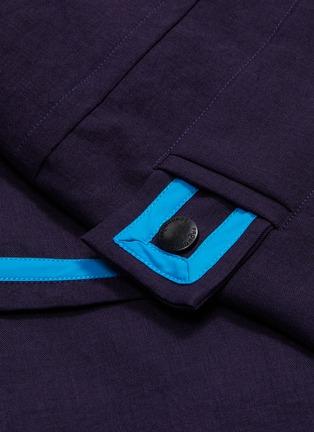 - LI-NING x PRONOUNCE - 拼色条纹翻盖口袋连帽大衣