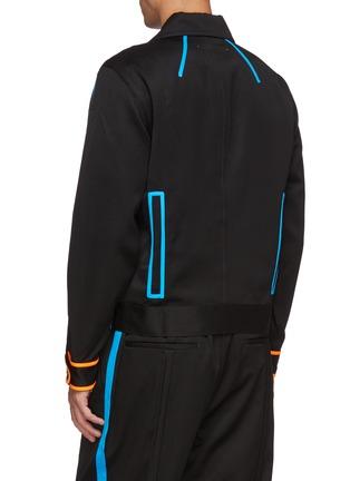 背面 - 点击放大 - LI-NING x PRONOUNCE - 钮扣布饰拼色条纹口袋羊毛夹克