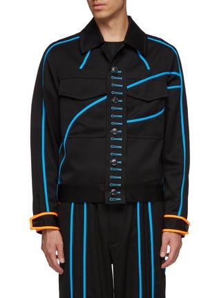 首图 - 点击放大 - LI-NING x PRONOUNCE - 钮扣布饰拼色条纹口袋羊毛夹克