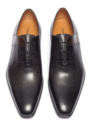 细节 - 点击放大 - Magnanni - 车缝线真皮系带牛津鞋