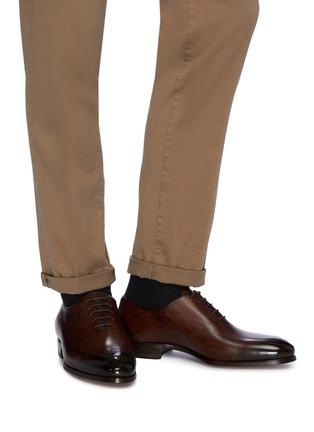 模特儿示范图 - 点击放大 - Magnanni - 系带真皮牛津鞋