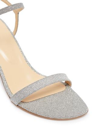 细节 - 点击放大 - BY FAR - Magnolia搭带闪粉真皮高跟凉鞋