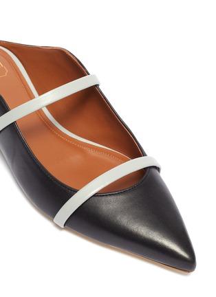 细节 - 点击放大 - MALONE SOULIERS - Maureen拼色双重搭带真皮拖鞋