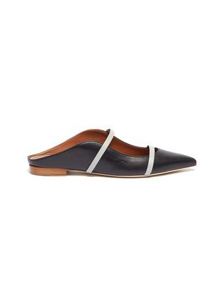 首图 - 点击放大 - MALONE SOULIERS - Maureen拼色双重搭带真皮拖鞋