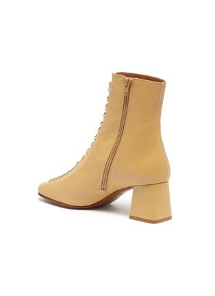 - BY FAR - Becca系带真皮粗跟短靴