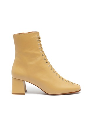 首图 - 点击放大 - BY FAR - Becca系带真皮粗跟短靴