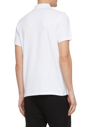 背面 - 点击放大 - Moncler - logo刺绣纯棉polo衫