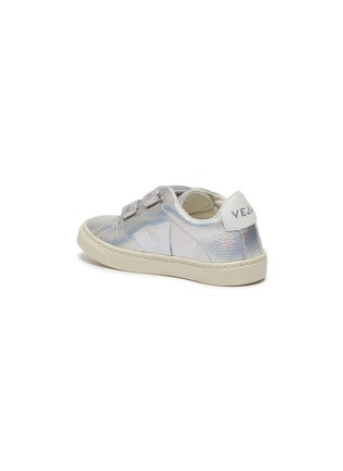 细节 - 点击放大 - VEJA - Esplar幼儿款金属感V字拼贴魔术贴真皮运动鞋