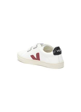 细节 - 点击放大 - VEJA - Esplar儿童款V字拼贴魔术贴搭带真皮运动鞋