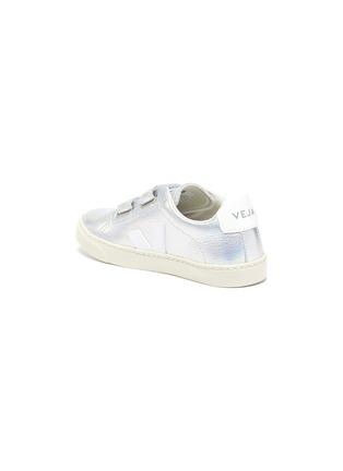 细节 - 点击放大 - VEJA - Esplar儿童款金属感V字拼贴魔术贴真皮运动鞋
