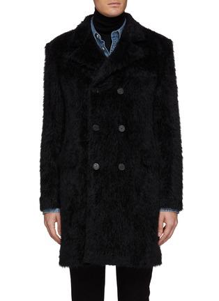 首图 - 点击放大 - SAINT LAURENT - 双排扣羊驼毛混初剪羊毛大衣