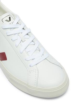 细节 - 点击放大 - VEJA - Esplar V字拼贴拼色真皮运动鞋