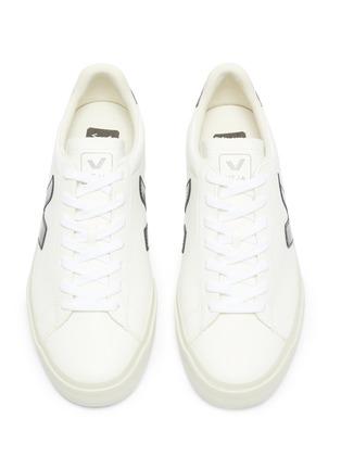 细节 - 点击放大 - Veja - Campo V字拼贴系带运动鞋