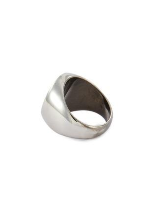 细节 - 点击放大 - Balenciaga - 品牌名称金属戒指