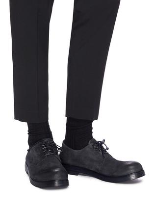 模特儿示范图 - 点击放大 - MARSÈLL - Zucca Zeppa仿旧真皮德比鞋