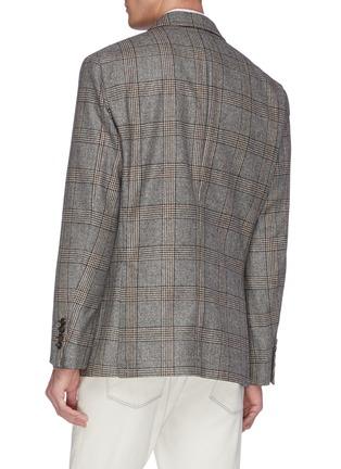 背面 - 点击放大 - Brunello Cucinelli - 格纹初剪羊毛西服外套