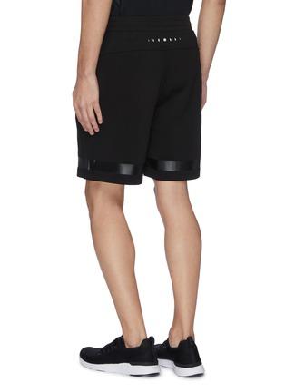 背面 - 点击放大 - PARTICLE FEVER - 混棉珠地布条纹功能短裤