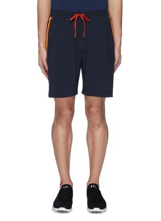 首图 - 点击放大 - Particle Fever - 拼色侧条纹抽绳功能短裤