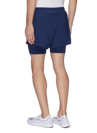 背面 - 点击放大 - Particle Fever - 拼色双层设计功能跑步短裤