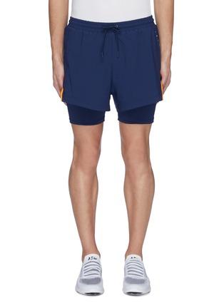 首图 - 点击放大 - Particle Fever - 拼色双层设计功能跑步短裤