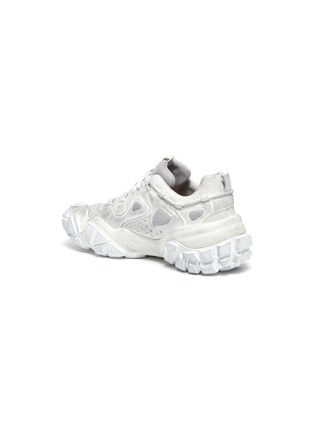 - ACNE STUDIOS - 网眼布拼接做旧感绒面真皮厚底运动鞋