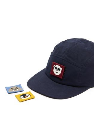 细节 - 点击放大 - Acne Studios - 可拆式动物及表情徽章纯棉棒球帽