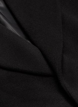 - Solid Homme - 针扣腰带羊毛混羊绒大衣