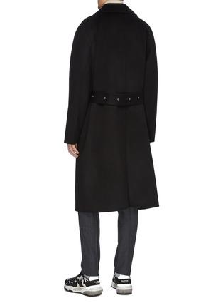 背面 - 点击放大 - Solid Homme - 针扣腰带羊毛混羊绒大衣