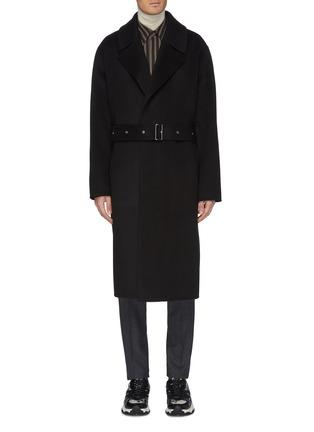 首图 - 点击放大 - Solid Homme - 针扣腰带羊毛混羊绒大衣