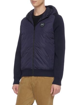 细节 - 点击放大 - CANADA GOOSE - Hybridge两面穿绗缝尼龙拼接美丽诺羊毛针织开衫