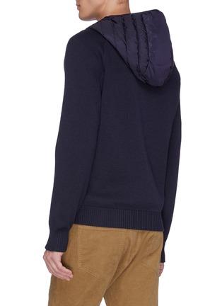 背面 - 点击放大 - CANADA GOOSE - Hybridge两面穿绗缝尼龙拼接美丽诺羊毛针织开衫
