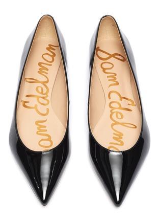 细节 - 点击放大 - Sam Edelman - Sally漆皮尖头平底鞋