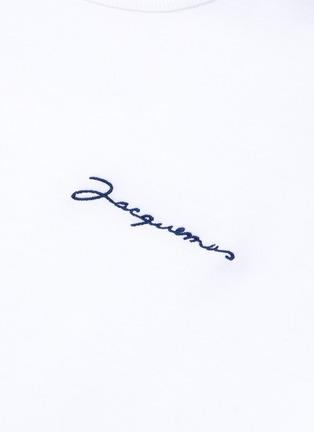 - JACQUEMUS - Le T-Shirt brodé品牌名称刺绣T恤