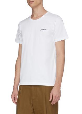 正面 -点击放大 - JACQUEMUS - Le T-Shirt brodé品牌名称刺绣T恤