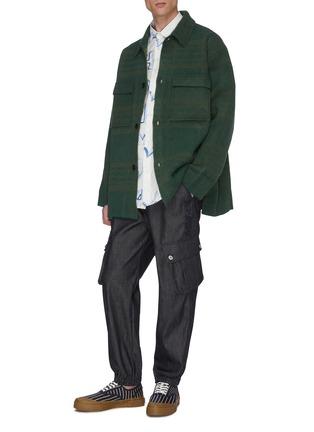模特儿示范图 - 点击放大 - JACQUEMUS - 翻盖口袋格纹衬衫