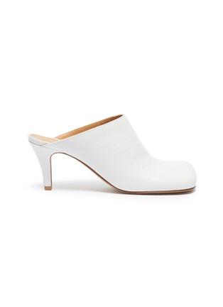 首图 - 点击放大 - Bottega Veneta - Bloc方头小牛皮高跟穆勒鞋