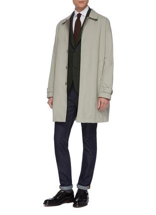 模特儿示范图 - 点击放大 - RING JACKET - BALLOON羊毛西服外套