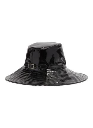 模特儿示范图 - 点击放大 - ERIC JAVITS - Driptidoo漆皮宽檐帽