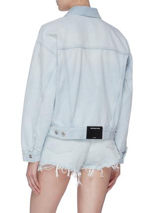 背面 - 点击放大 - alexander wang - Game logo皮饰oversize水洗牛仔夹克