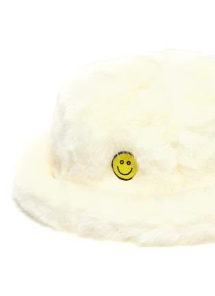 细节 - 点击放大 - KIRIN BY PEGGY GOU - Smile笑脸刺绣仿皮毛渔夫帽