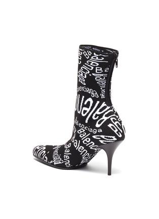 - Balenciaga - Logo提花针织高跟短靴