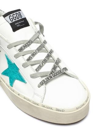 细节 - 点击放大 - Golden Goose - Hi Star闪粉拼贴五角星厚底运动鞋