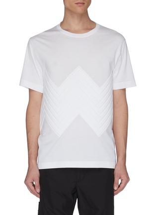 首图 - 点击放大 - Bottega Veneta - 立体人字纹纯棉T恤